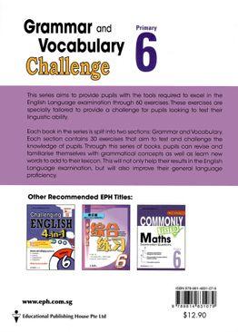Grammar and Vocabulary Challenge P6