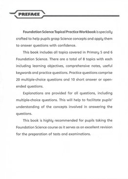 Primary 5 & 6 Foundation Science Topical Practice Workbook