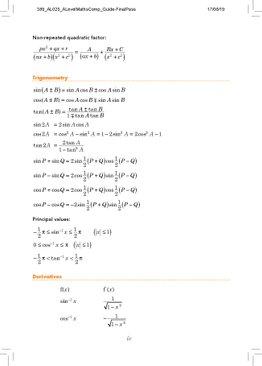 A Level - Comprehensive Guide to Mathematics (H2)