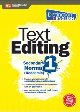 Distinction in English: Text Editing Secondary 1 Normal (Academic) - 2E