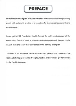 P6 Foundation English Practice Papers
