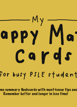 P5/ 6. My Happy Math Cards (Problem Sums) for Busy PSLE Students + Bonus PSLE Trending Video – worth $97