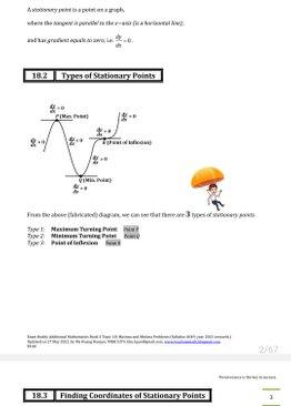 Exam Buddy Additional Mathematics (2021 Edition) Topic 18: Maxima and Minima Problems