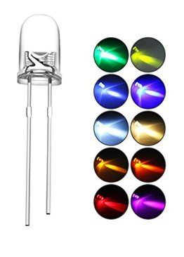 LED Light Bulb 5 mm Rainbow 7 Colours Science Experiment Component Teaching Resource 25 pieces pack