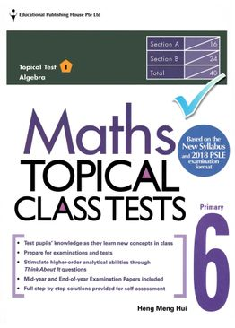 Maths Topical Class Tests 6 - New Syllabus