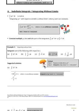 Exam Buddy Additional Mathematics (2021 Edition) Topic 20: Integration