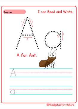 I can Read and Write • Fun Alphabets A-Z Tracing Worksheets
