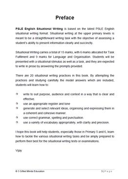 PSLE ENGLISH SITUATIONAL WRITING