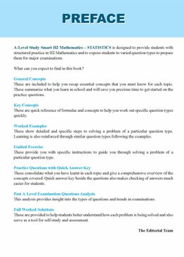 A-Level Study Smart H2 Mathematics [Statistics]
