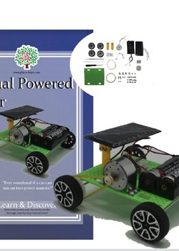 Self Assembly Dual Powered Solar and Battery Powered Car Science Toy Teaching Resource