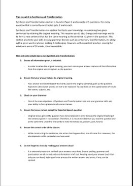 Synthesis and Transformation Book 1 - Primary 5 & 6 (Answers Provided)