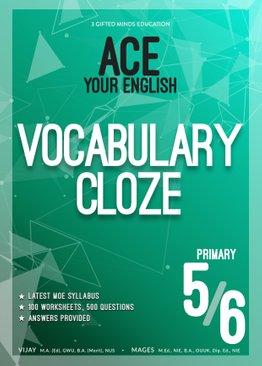 P5 / P6 ACE YOUR ENGLISH VOCABULARY CLOZE