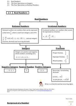 Exam Buddy Elementary Mathematics 4048 Sec 1 Topic 2: Real Numbers