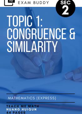 Exam Buddy Elementary Mathematics Sec 2 (2020 Edition) Topic 1: Congruence & Similarity