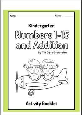 Kindergarten Numbers 1 - 15 and Addition