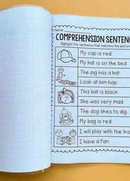 English Comprehension Sentences Learning Workbook