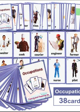 Occupation - English Pocket Card Montessori Toys - Early Education Children's Learning Flashcards
