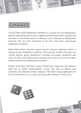 O Level Real World Mathematics Problems