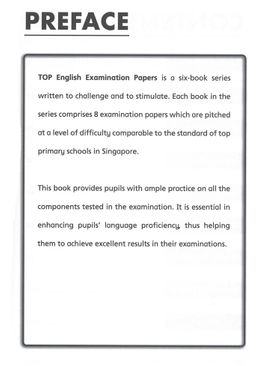 TOP English Examination Papers  - Primary 5