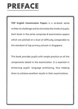 TOP English Examination Papers  - Primary 6