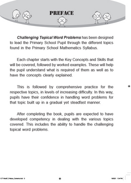 Challenging Topical Mathematics Word Problems P1