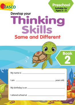 Preschool Develop Your Thinking Skills Book 2: Same and Different